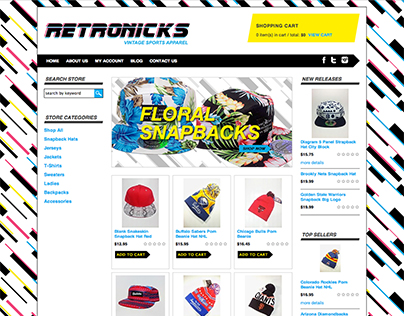 Retronicks – custom 3DCart e-Commerce theme